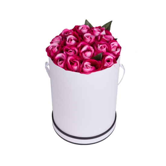 Luxe Rose Delivery Round Boxes
